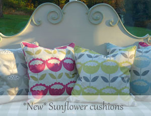 Sunflower-cushions