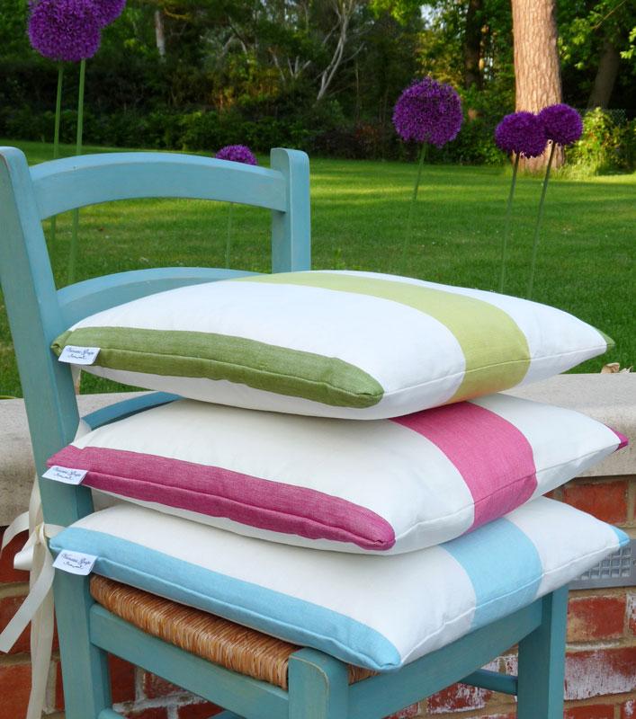 Amalfi Stripe seat cushion Turquoiseblue Vanessa Grape : Amalfi stripe cushions 2 from www.vanessagrape.co.uk size 707 x 800 jpeg 120kB