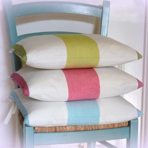 Amalfi stripe seat cushion