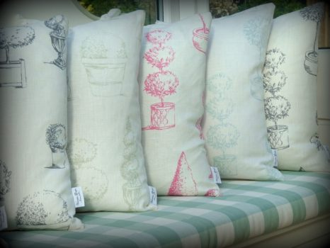 Summer topiary cushions