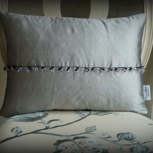 Pewter crystal cushion