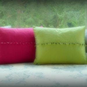 Boutique crystal cushions