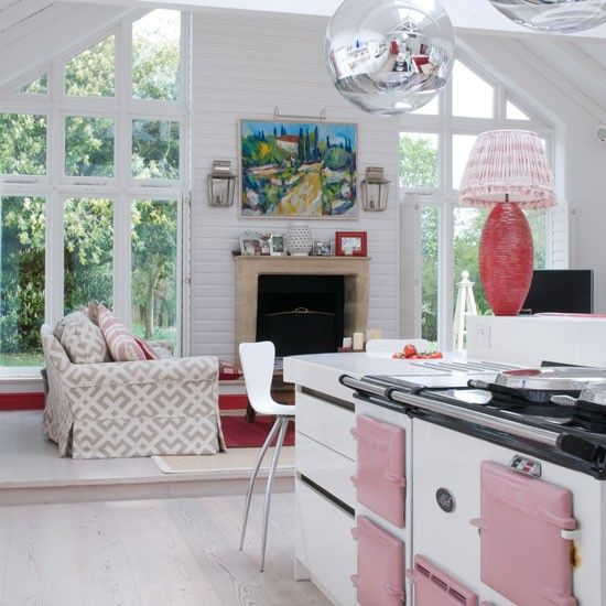 pink aga opn plan living