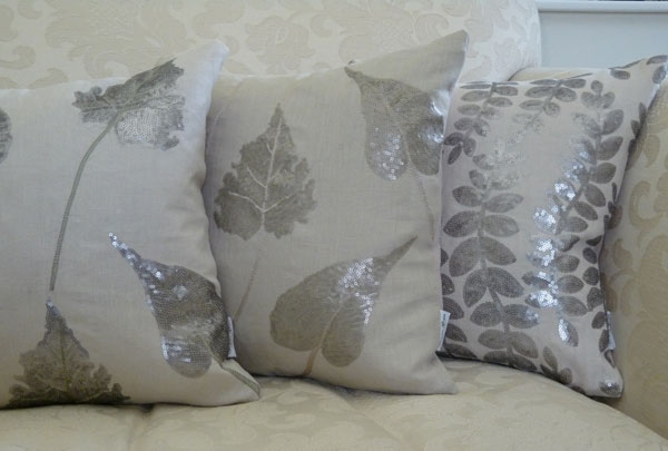 Metallic-embellished-cushions