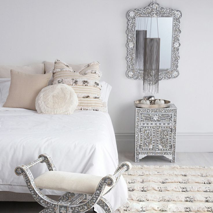 modern moroccan ~ grey and white